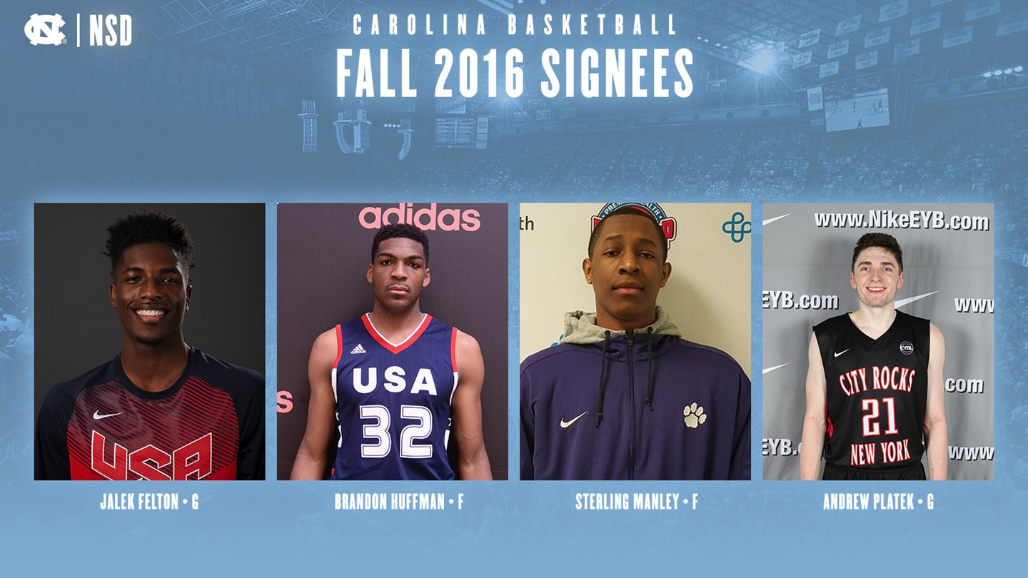 Tar Heels Sign Four For 2017-18