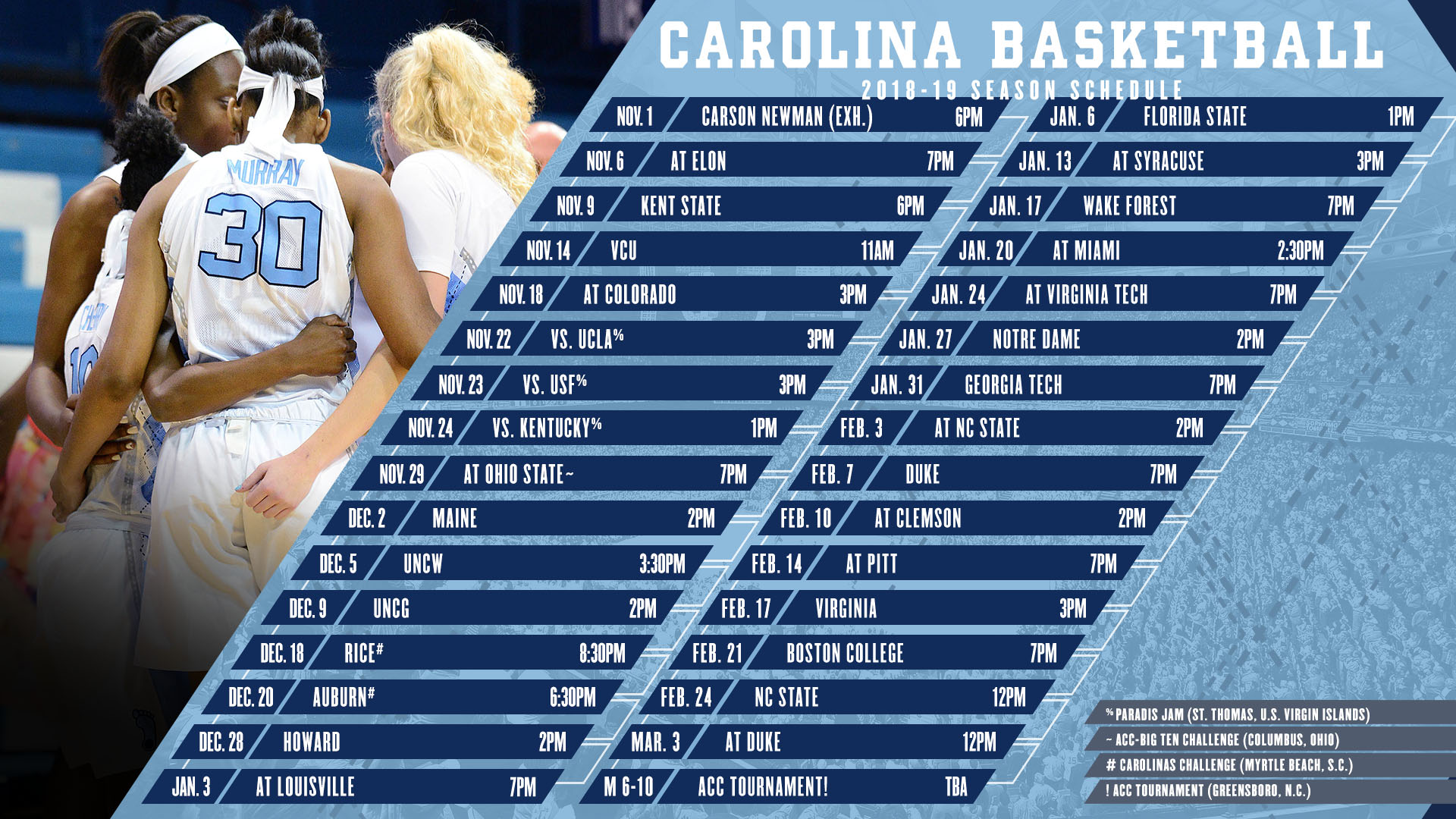 picture relating to Unc Basketball Schedule Printable identify Demanding Program In advance For Carolina - College of