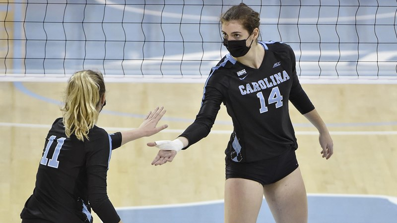 UNC Volleyball To Wrap Up 2020 Season Against Virginia
