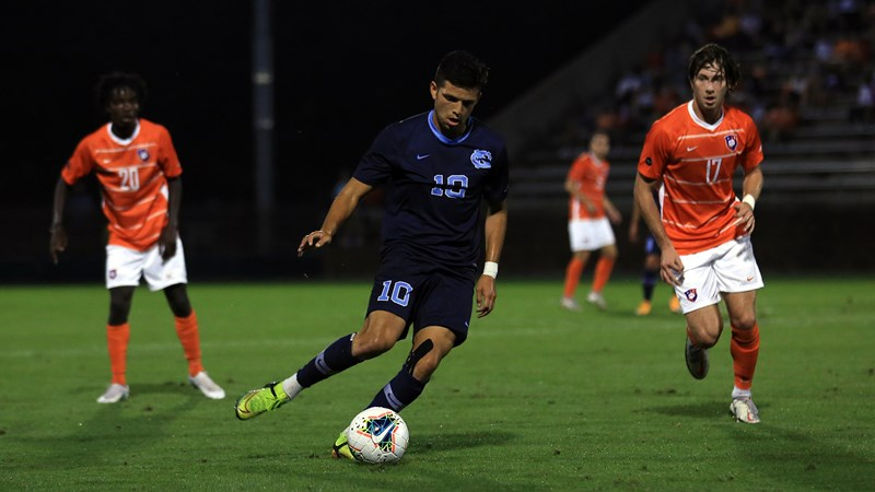No. 5 UNC Men's Soccer, No. 3 Clemson Play To 3-3- Draw In Double Overtime