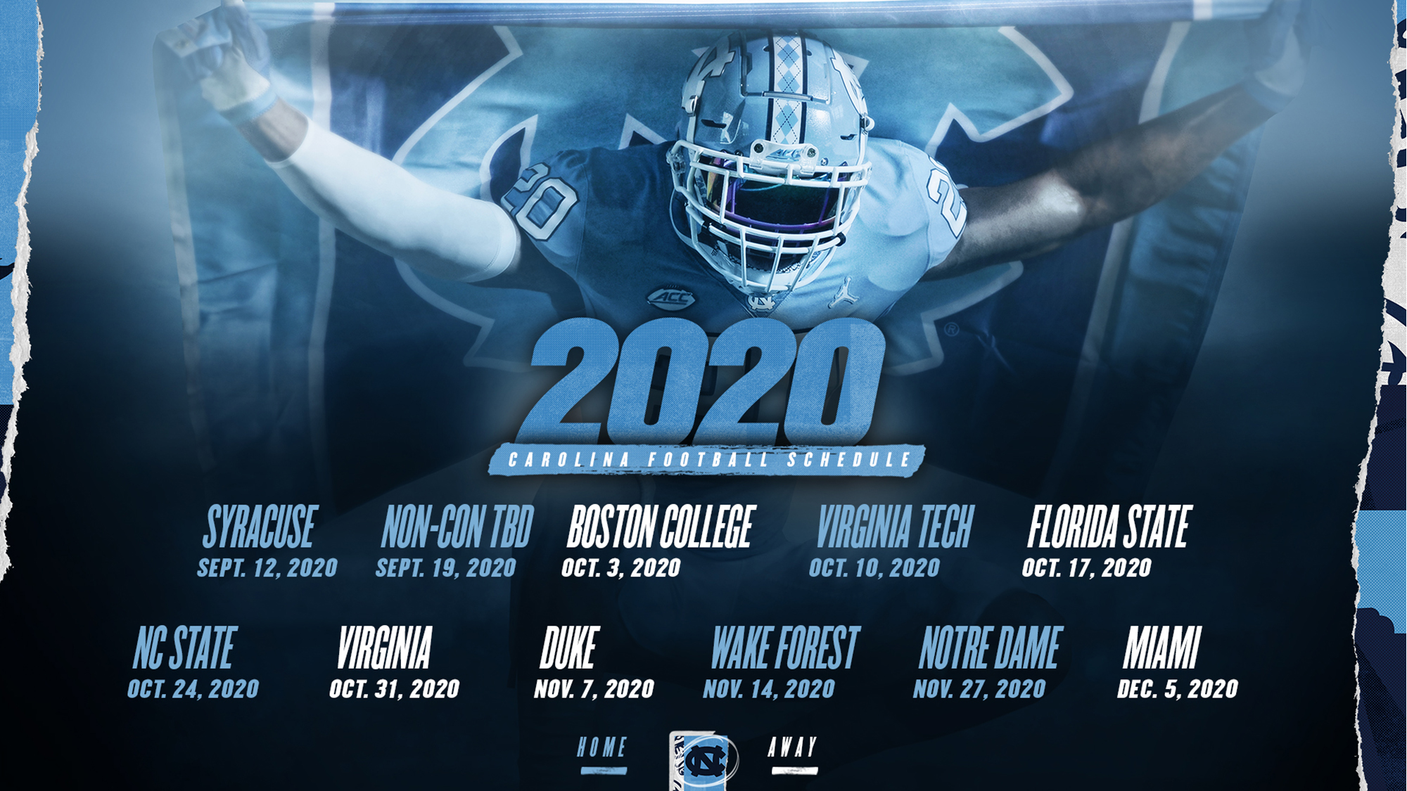 Acc Releases Revamped 2020 Football Schedule University Of North Carolina Athletics