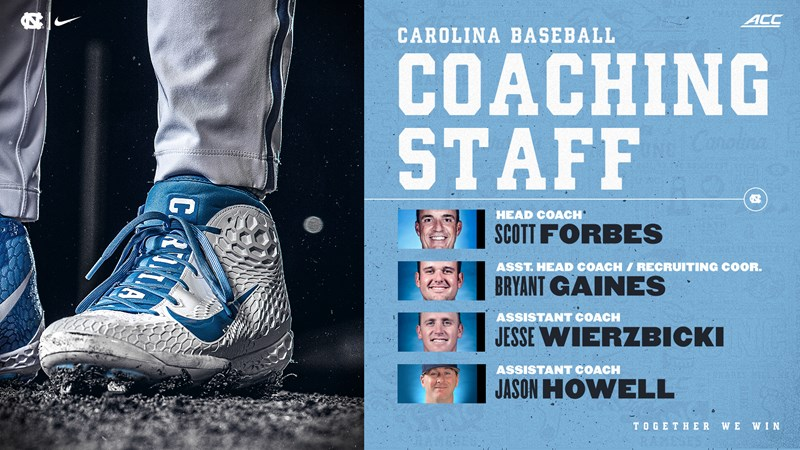 Coach Scott Forbes Completes 2021 UNC Baseball Staff