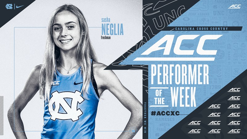 Sasha Neglia Adds ACC Cross Country Honor After Stellar Debut