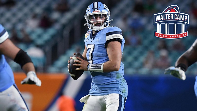 Sam Howell Named Preseason First-Team All-American By Walter Camp Football Foundation