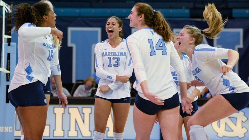 UNC Volleyball Shuts Out Duke, Remains Undefeated